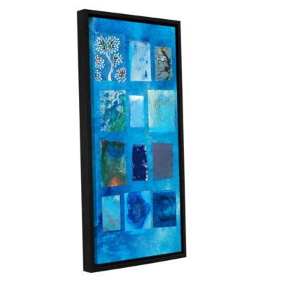 Blue Tree Collage Gallery Wrapped Floater-Framed Canvas Wall Art