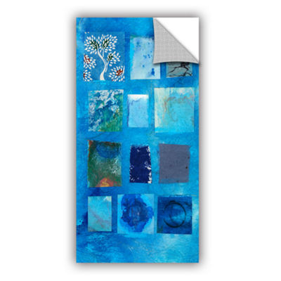 Blue Tree Collage Removable Wall Decal
