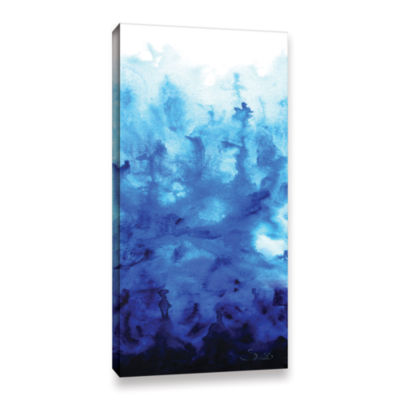 Blue Watery Gallery Wrapped Canvas Wall Art
