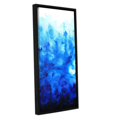 Blue Watery Gallery Wrapped Floater-Framed CanvasWall Art