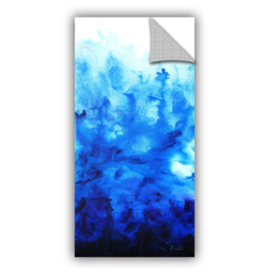 Blue Watery Removable Wall Decal