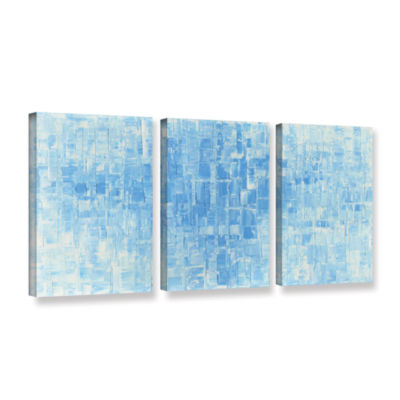 Blue White 3-pc. Gallery Wrapped Canvas Wall Art