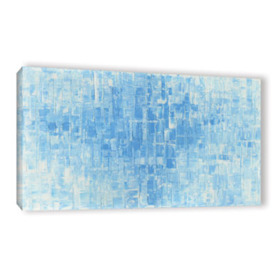 Blue White Gallery Wrapped Canvas Wall Art
