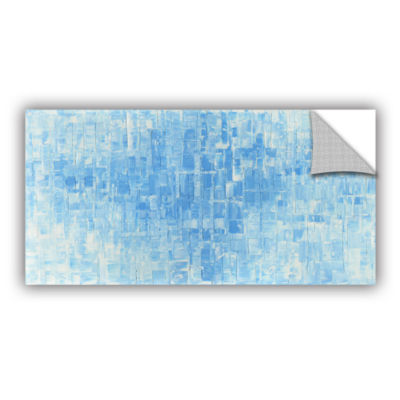 Blue White Removable Wall Decal