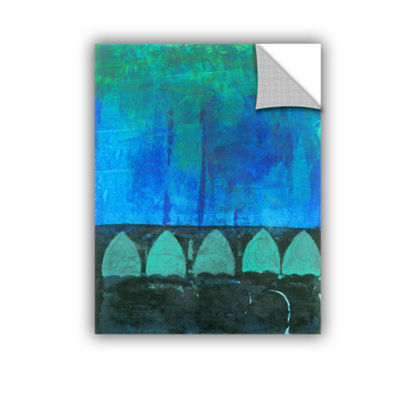 Blue-Green Abstract Removable Wall Decal