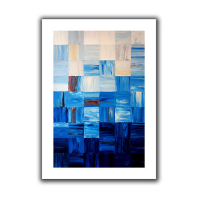 Bluesquares Canvas Wall Art