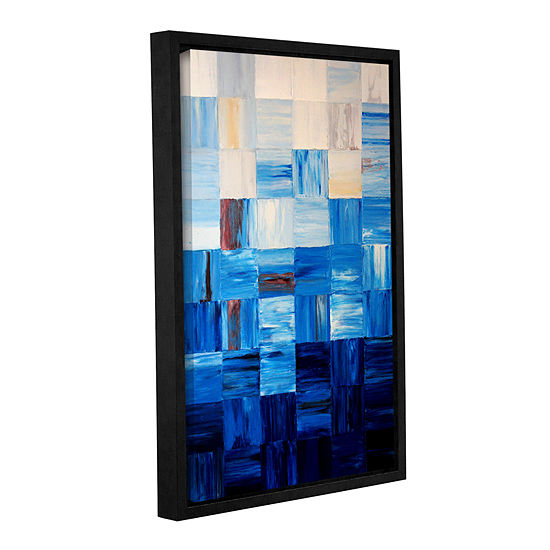 Bluesquares Gallery Wrapped Floater Framed Canvaswall Art
