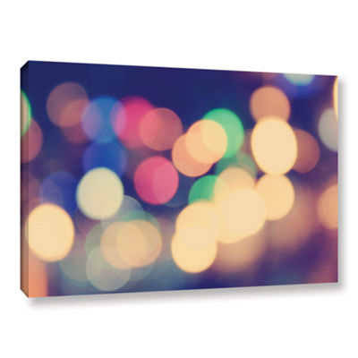 Blurred Lights Gallery Wrapped Canvas Wall Art