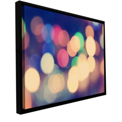 Blurred Lights Gallery Wrapped Floater-Framed Canvas Wall Art