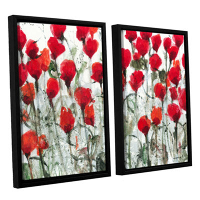 Blushing Meadow 2-pc. Floater Framed Canvas Wall Art