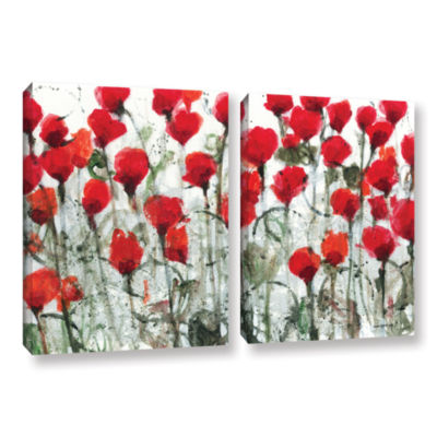 Blushing Meadow 2-pc. Gallery Wrapped Canvas WallArt