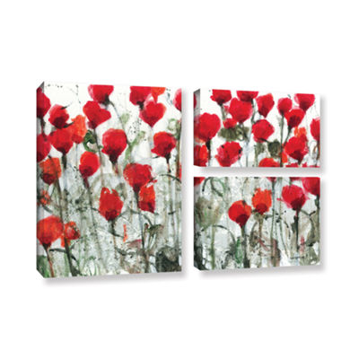 Blushing Meadow 3-pc. Flag Gallery Wrapped CanvasWall Art