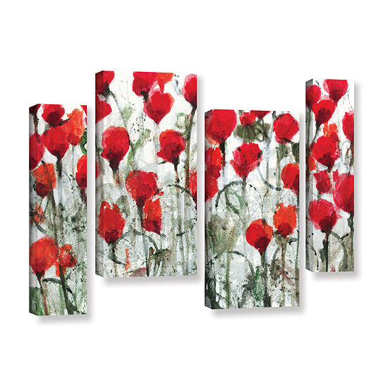 Blushing Meadow 4-pc. Gallery Wrapped Staggered Canvas Wall Art