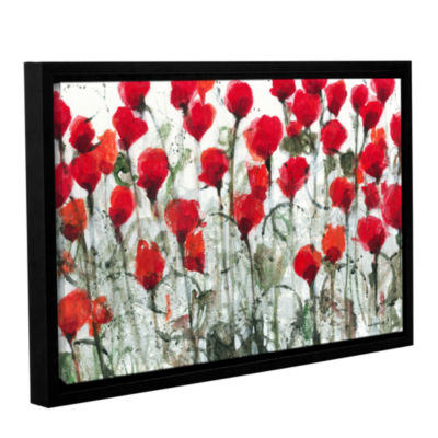Blushing Meadow Gallery Wrapped Floater-Framed Canvas Wall Art