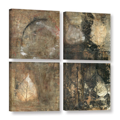 Bodhi Leaf Skeletons 4-pc. Square Gallery WrappedCanvas Wall Art