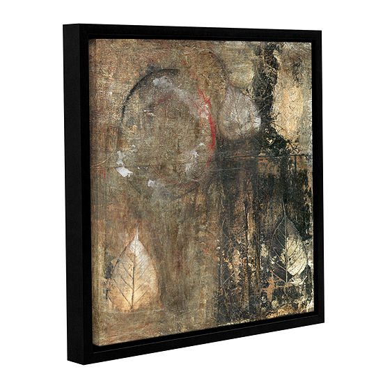 Bodhi Leaf Skeletons Gallery Wrapped Floater-Framed Canvas Wall Art