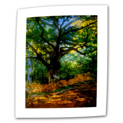 Bodmer Oak At Fountainbleau Forest Canvas Wall Art