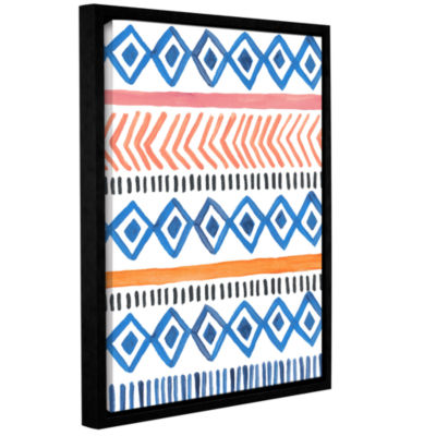 Boho Chic 5 Gallery Wrapped Floater-Framed CanvasWall Art
