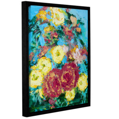 Bois De Boulogne Garden Gallery Wrapped Floater-Framed Canvas Wall Art