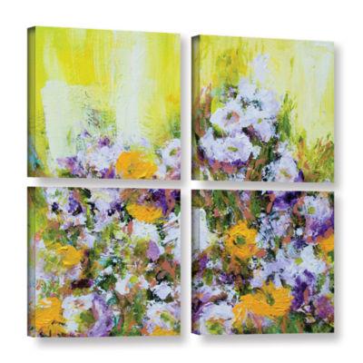 Bois De Vincennes Garden 4-pc. Square Gallery Wrapped Canvas Wall Art