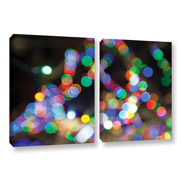 Bokeh 1 2-pc. Gallery Wrapped Canvas Wall Art