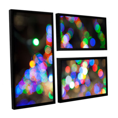 Bokeh 1 3-pc. Flag Floater Framed Canvas Wall Art