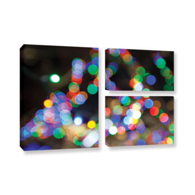 Bokeh 1 3-pc. Flag Gallery Wrapped Canvas Wall Art