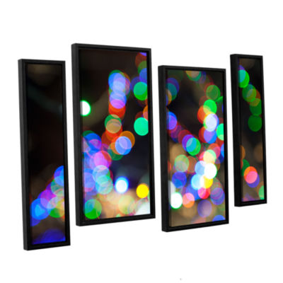 Bokeh 1 4-pc. Floater Framed Staggered Canvas WallArt