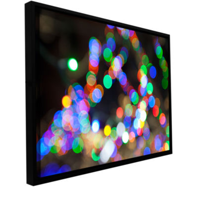 Bokeh 1 Gallery Wrapped Floater-Framed Canvas Wall Art