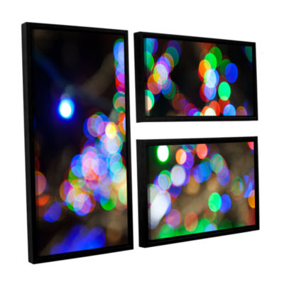 Bokeh 2 3-pc. Flag Floater Framed Canvas Wall Art