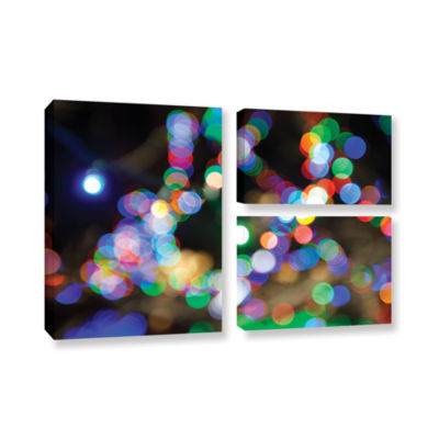 Bokeh 2 3-pc. Flag Gallery Wrapped Canvas Wall Art