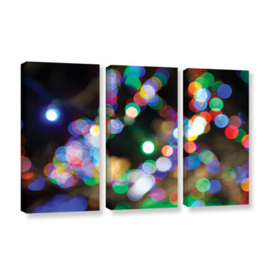 Bokeh 2 3-pc. Gallery Wrapped Canvas Wall Art