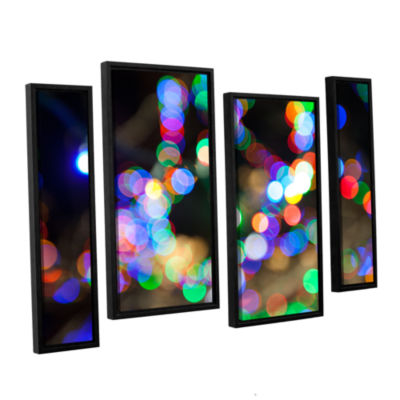 Bokeh 2 4-pc. Floater Framed Staggered Canvas WallArt