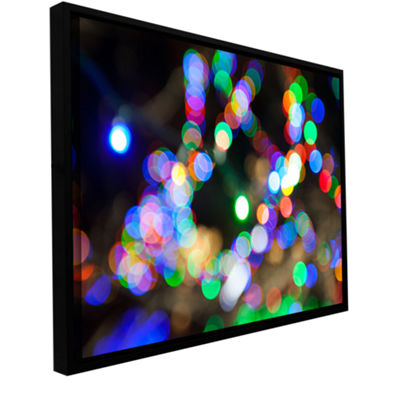 Bokeh 2 Gallery Wrapped Floater-Framed Canvas WallArt