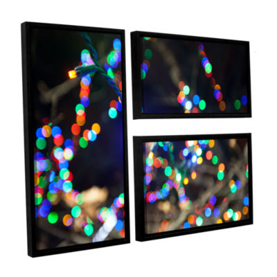 Bokeh 3 3-pc. Flag Floater Framed Canvas Wall Art