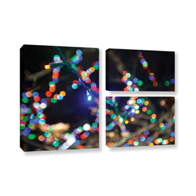 Bokeh 3 3-pc. Flag Gallery Wrapped Canvas Wall Art