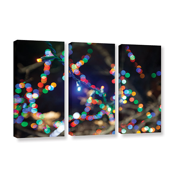 Bokeh 3 3-pc. Gallery Wrapped Canvas Wall Art
