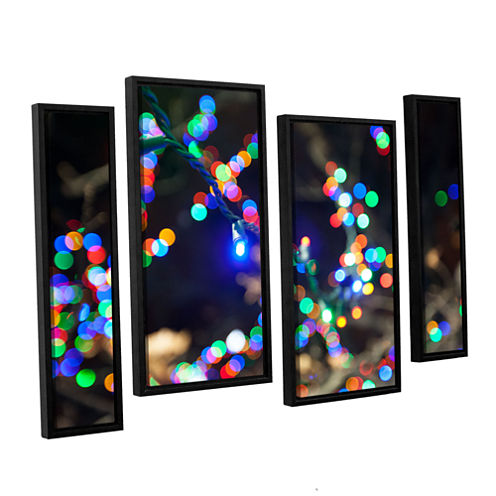 Bokeh 3 4-pc. Floater Framed Staggered Canvas WallArt
