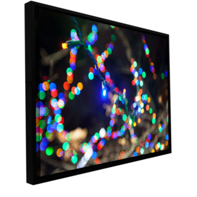 Bokeh 3 Gallery Wrapped Floater-Framed Canvas WallArt