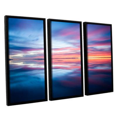 Bonnieville Salt Flats 3-pc. Floater Framed CanvasWall Art