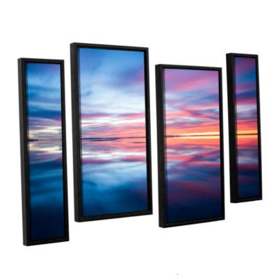 Bonnieville Salt Flats 4-pc. Floater Framed Staggered Canvas Wall Art