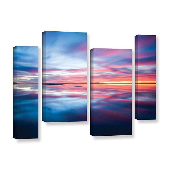 Bonnieville Salt Flats 4-pc. Gallery Wrapped Staggered Canvas Wall Art