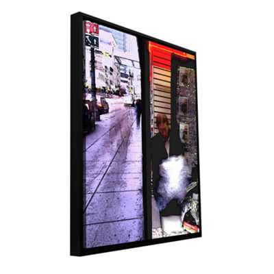 Book Store Gallery Wrapped Floater-Framed Canvas Wall Art