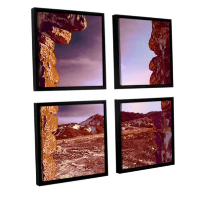 Borax Ruins 4-pc. Square Floater Framed Canvas Wall Art