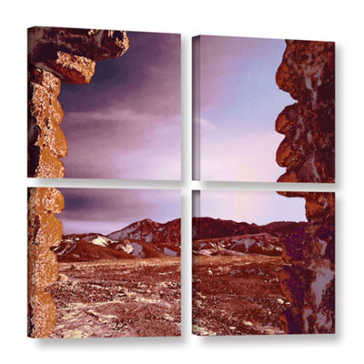 Borax Ruins 4-pc. Square Gallery Wrapped Canvas Wall Art