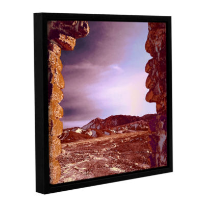 Borax Ruins Gallery Wrapped Floater-Framed CanvasWall Art