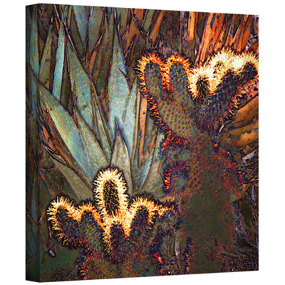 Borrego Cactus Patch Gallery Wrapped Canvas Wall Art