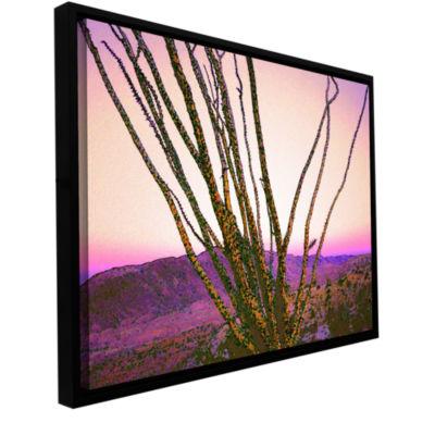 Borrego Desert Dawn Gallery Wrapped Floater-Framed Canvas Wall Art