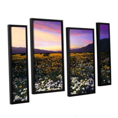 Borrego Desert Spring 4-pc. Floater Framed Staggered Canvas Wall Art