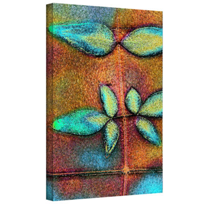 Botanical Edges2 Gallery Wrapped Canvas Wall Art